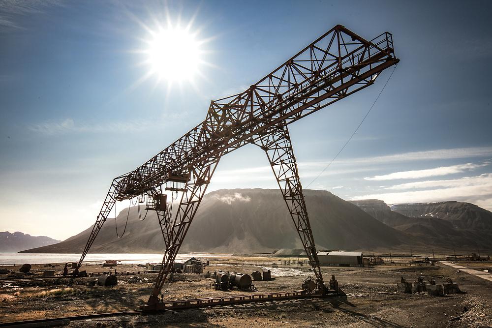 Crane at Pyramiden, Spitsbergen