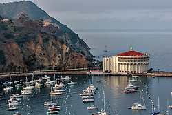 AVALON, CA - JANUARY 16: Panoramics of Santa Catalina Avalon bay. Byline, credit, TV usage, web usage or linkback must read SILVEXPHOTO.COM. Failure to byline correctly will incur double the agreed fee. Tel: +1 714 504 6870.