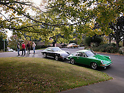 Image of enthusiasts in Portland, Oregon, Pacific Northwest, early Porsche 911 by Randy Wells