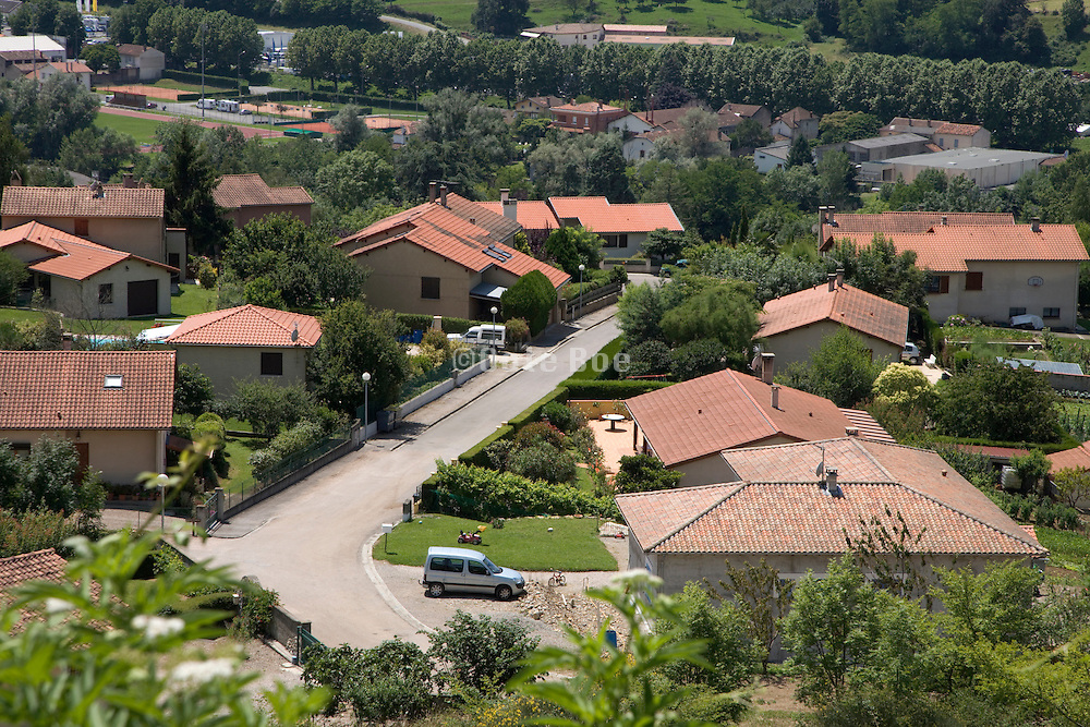 overview of a residential neighborhood France