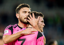 Robert Snodgrass and Andy Robertson of Scotland after the football match between National Teams of Slovenia and Scotland of Fifa 2018 World Cup European qualifiers, on October 8, 2017 in SRC Stozice, Ljubljana, Slovenia. Photo by Vid Ponikvar / Sportida