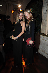 Left to right, GUIA CLEPS and ANNA HAAS at a party and fashion show to celebrate the 40th anniversary of Butler & Wilson held at Koko, 1 Camden High Street, London NW1 on 12th November 2009.