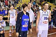 DESCRIZIONE : Lucca Nazionale Italia Femminile Qualificazione Europeo Femminile Italia Albania Italy Albania<br /> GIOCATORE : Alice Sabatini Martina Bestagno<br /> CATEGORIA : postgame vip<br /> SQUADRA : Italia Italy<br /> EVENTO : Qualificazione Europeo Femminile<br /> GARA : Italia Albania Italy Albania<br /> DATA : 21/11/2015 <br /> SPORT : Pallacanestro<br /> AUTORE : Agenzia Ciamillo-Castoria/GiulioCiamillo<br /> Galleria : FIP Nazionali 2015<br /> Fotonotizia : Lucca Nazionale Italia Femminile Qualificazione Europeo Femminile Italia Albania Italy Albania