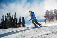 Skiing on Aspen Mountain in Aspen, Colorado.