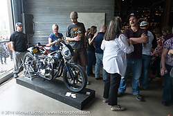 Saturday in the Handbuilt Motorcycle Show. Austin, TX, USA. April 9, 2016.  Photography ©2016 Michael Lichter.