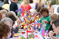 Cambridge, UK  29/04/2011. The Royal Wedding of HRH Prince William to Kate Middleton. Street Party in Cambridge city centre. Photo credit should read Jason Patel/LNP. Please see special instructions. © under license to London News PicturesLOCATION, UK  29/04/2011. The Royal Wedding of HRH Prince William to Kate Middleton. YOUR CAPTION HERE. Photo credit should read PHOTOGRAPHER NAME/LNP. Please see special instructions. © under license to London News Pictures