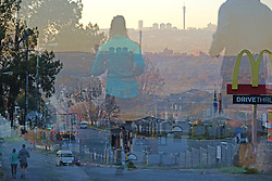 JOHANNESBURG, SOUTH AFRICA - MAY 10: A multiple exposure of runners out exercising in Randburg during lockdown level 4 on May 10, 2020 in Johannesburg, South Africa. According to media reports, during lockdown level 4 people are allowed to exercise. Guidelines allow for cycling, running and walking as examples and must be within a 5km radius of their residences between 6:00 am – 9:00 am. (Photo by Dino Lloyd)