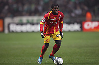 FOOTBALL - FRENCH CHAMPIONSHIP 2009/2010  - L1 - RC LENS v AS SAINT ETIENNE - 22/12/2009 - PHOTO DPPA / DPPI - CHRISTOPHER AURIER (LENS)