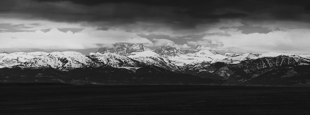 The Tetons as seen from Highway 33. Idaho.