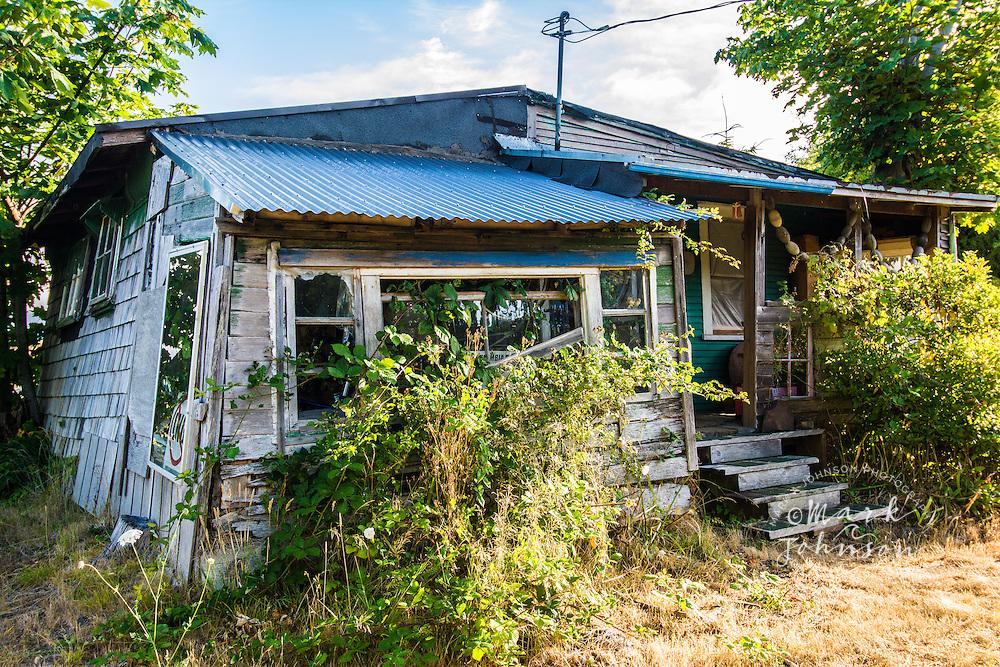 Abandoned house in disrepair, Astoria, Oregon, USA