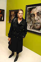 TRACEY EMIN at an exhibition of artist Paul Karslake's work entitled Ideas & Idols, held at Scream, 34 Bruton Street, London W1 on 21st February 2008.<br />