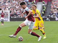 Football - 2021 / 2022 Premier League - West Ham United vs Crystal Palace - London Stadium - Saturday 28th August 2021<br /> <br /> Declan Rice  of West Ham and Conor Gallagher of C Palace<br /> <br /> Credit : COLORSPORT/Andrew Cowie