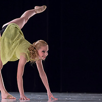 Orsolya Vitarius seventh year student of the Hungarian Dance Academy performs in Le Temps de l'Amour choreographed by Noemi Kulcsar, music by Alexandre Desplat during a gala performance held at the National Dance Theatre in Budapest, Hungary on February 27, 2013. ATTILA VOLGYI