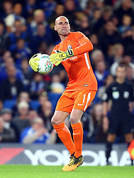 September 20, 2017 - London, England, United Kingdom - Chelsea's Willy Caballero.during Carabao Cup 3rd Round match between Chelsea and Nottingham Forest at Stamford Bridge Stadium, London,  England on 20 Sept  2017. (Credit Image: © Kieran Galvin/NurPhoto via ZUMA Press)