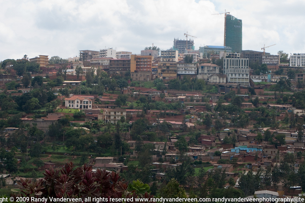 Photo Randy Vanderveen.Kigali, Rwanda.A view of downtown Kigali as photographed from the National Genocide Memorial. Construction continues in the small African nation.