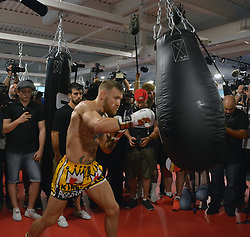 August 11, 2017 - Las Vegas, Nevada, United States of America - MMA Fighter Conor McGregor  hosts Las Vegas Media workout ahead of his upcoming fight with ex boxer Floyd Mayweather jr at UFC Performance Institute on August 11, 2017 in Las Vegas, Nevada (Credit Image: © Marcel Thomas via ZUMA Wire)