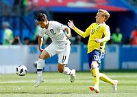 Hwang Heechan (Korea Republic) and Emil Forsberg (Sweden)<br /> Nizhny Novgorod 16-06-2018 Football FIFA World Cup Russia  2018 <br /> Sweden - South Korea / Svezia - Corea del Sud <br /> Foto Matteo Ciambelli/Insidefoto