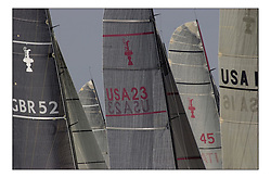 The Americas Cup Class ( IACC ) fleet racing at The Americas Cup Jubilee in Cowes...Marc Turner  PFM Pictures.