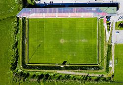 THEMENBILD - Tauernstadion, Luftaufnahme bei Schönwetter am Mittwoch 27. Mai 2020 in Matrei // Tauern Stadium, aerial view in fair weather on Wednesday May 27, 2020 in Matrei. EXPA Pictures © 2020, PhotoCredit: EXPA/ Johann Groder