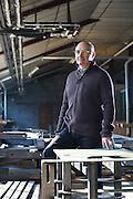 Portrait de Denis Perret, directeur de l'entreprise Valseran a Hotonnes // Portrait of Denis Perret, director of the company Valseran in Hotonnes, France.