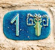 Israel, Jaffa, Taurus Ceramic Zodiac street sign