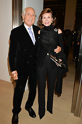 KEN & ROSEMARY LIEBERMAN at an evening of Fashion, Art & design hosted by Ralph Lauren and Phillips at the new Phillips Gallery, 50 Berkeley Square, London on 22nd October 2014.