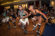 Global TB Summit Gala Dinner at the Westin Hotel in Cape Town, South Africa.<br /> Photo shows the Buyelekhaya Community Danners providing entertainment.