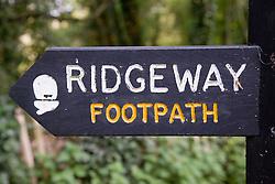 Public footpath sign,