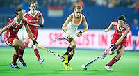 BOOM -  Carlien Dirkse van den Heuvel tijdens shoot out bij de halve finale van het EK hockey tussen de vrouwen van Nederland en Engeland (1-1) . Engeland wint na shoot out.  ANP KOEN SUYK
