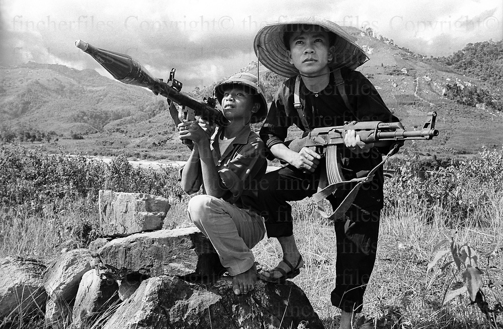 South Vietnamese army soldiers dress in Viet Cong uniforms in Vietnam, September 1969. The Vietnam War was fought between 1st November 1955 until the fall of Saigon on 30 April 1975. Photographed by Terry Fincher.