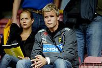 Fotball , 24. juni 2007 , Tippeligaen ,  Lillestrøm - Start 1-0<br /> <br /> Marius Johnsen , Lillestrøm og kjæreste (samboer , kone????)