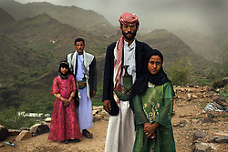 """""""Whenever I saw him, I hid. I hated to see him,"""" Tahani (in pink) recalls of the early days of her marriage to Majed, when she was 6 and he was 25. The young wife posed for this portrait with former classmate Ghada, also a child bride, outside their mountain home in Hajjah. Nearly half of all women in Yemen were married as children. Every year, throughout the world, millions of young girls are forced into marriage. Child marriage is outlawed in many countries and international agreements forbid the practice yet this tradition still spans continents, language, religion and caste."""