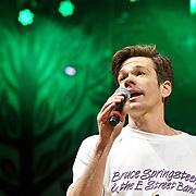 """COLUMBIA, MD - April 28th, 2012 -  Nate Ruess of fun. performs at the 2012  Sweetlife Food and Music Festival at Merriweather Post Pavilion in Columbia, MD. The band's hit """"We Are Young"""" recently reached number one on the U.S. Billboard Hot 100 and Digital Songs charts. (Photo by Kyle Gustafson/For The Washington Post)"""