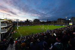 A general view of the Recreation Ground pitch during the match - Mandatory byline: Patrick Khachfe/JMP - 07966 386802 - 30/12/2018 - RUGBY UNION - The Recreation Ground - London, England - Bath Rugby v Leicester Tigers - Gallagher Premiership Rugby
