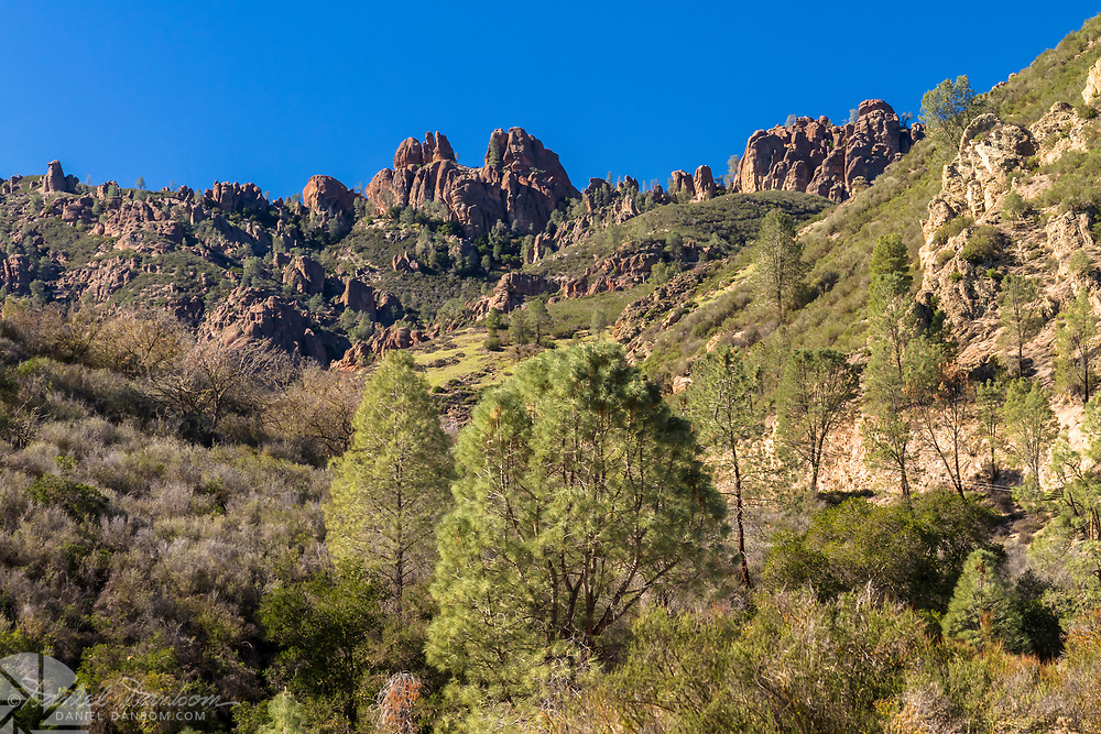 Pinnacles National Park, the east side from Highway 25, south of Hollister, California