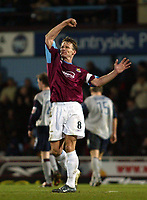 Photo. Chris Ratcliffe<br /> West Ham United v Crewe Alexandra. Coca Cola Championship. 15/03/2005<br /> Teddy Sheringham celebrates his goal