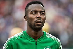June 14, 2018 - Moscow, Russia - 180614 Osama Hawsawi of Saudi Arabia prior the FIFA World Cup group stage match between Russia and Saudi Arabia on June 14, 2018 in Moscow..Photo: Petter Arvidson / BILDBYRN / kod PA / 92065 (Credit Image: © Petter Arvidson/Bildbyran via ZUMA Press)