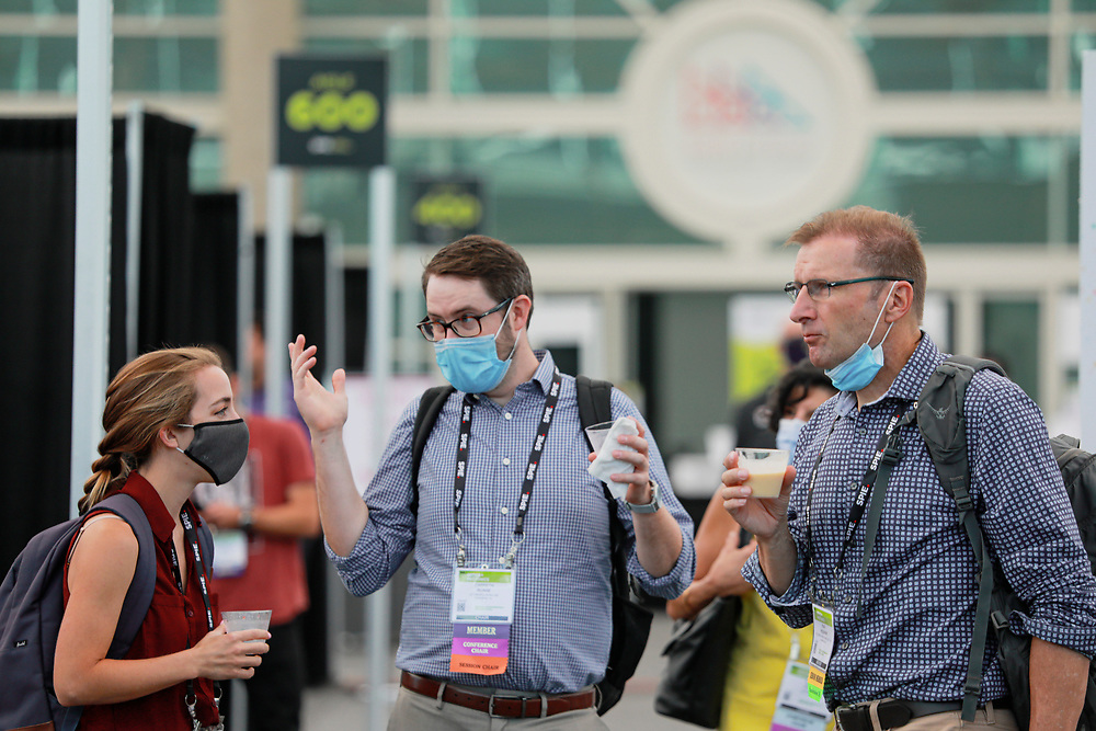 First conference back after grand reopening of the San Diego Convention Center on Tuesday, August 3, 2021.(Photo by Sady Huffaker/SDCC)