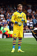 Port Vale's Goalkeeper Chris Neal in action. Skybet football league one match, Crewe Alexandra v Port Vale at the Alexandra Stadium in Crewe on Saturday 13th Sept 2014.<br /> pic by Chris Stading, Andrew Orchard sports photography.