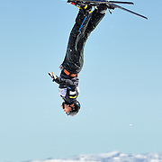 Gold medalist Jana Lindsey (Black Hawk, SD) performs aerial acrobatics during the 2009 Sprint US Freestyle Championships held at the Utah Olympic Park in Park City on March 8, 2009. Lindsey scored 175.01 points on the day which was good enough for 1st place overall.