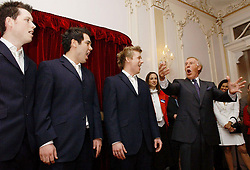 File photo dated 06/05/05 of Sir Bruce Forsyth with Opera group G4, as the veteran entertainer has died aged 89.