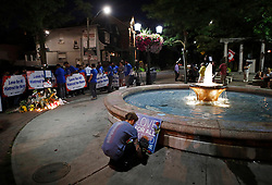 A young man attends a vigil remembering the victims of a shooting on Sunday evening on Danforth, Ave. in Toronto, ON, Canada, on Monday, July 23, 2018. Photo by Mark Blinch/CP/ABACAPRESS.COM