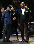 """SHANGHAI, CHINA - MAY 06: (CHINA OUT) <br /> <br /> Ip Man 3 Shanghai Press Conference<br /> <br /> American retired professional boxer Mike Tyson attends press conference of """"Ip Man 3"""" directed by director Wilson Yip Wai Shun on May 6, 2015 in Shanghai, China.<br /> ©Exclusivepix Media"""