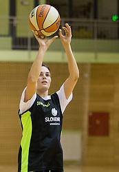 Helena Boada during practice session of Slovenian Women Basketball Team, on May 14, 2014 in Arena Vitranc, Kranjska Gora, Slovenia. Photo by Vid Ponikvar / Sportida