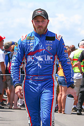 July 29, 2018 - Long Pond, PA, U.S. - LONG POND, PA - JULY 29:  Monster Energy NASCAR Cup Series driver Jeffrey Earnhardt Xtreme Concepts Inc Toyota (96) during driver introductions prior to the Monster Energy NASCAR Cup Series - 45th Annual Gander Outdoors 400 on July 29, 2018 at Pocono Raceway in Long Pond, PA. (Photo by Rich Graessle/Icon Sportswire) (Credit Image: © Rich Graessle/Icon SMI via ZUMA Press)