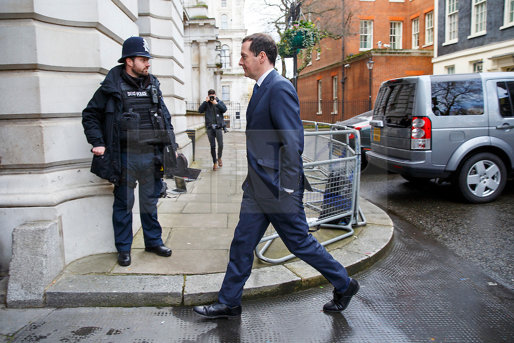 © Licensed to London News Pictures. 05/01/2016. London, UK. Chancellor George Osborne leaving Downing Street on Tuesday , 5 December 2015. Photo credit: Tolga Akmen/LNP