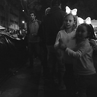 Dancing in the closed streets at Graça.