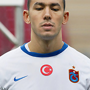 Trabzonspor's Umut BULUT during their Turkish superleague soccer derby match Galatasaray between Trabzonspor at the TT Arena in Istanbul Turkey on Sunday, 10 April 2011. Photo by TURKPIX