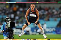 ATHLETICS - IAAF WORLD CHAMPIONSHIPS 2011 - DAEGU (KOR) - DAY 6 - 01/09/2011 - MEN HIGH JUMP FINAL - JESSE WILLIAMS (USA) / WINNER - PHOTO : FRANCK FAUGERE / KMSP / DPPI