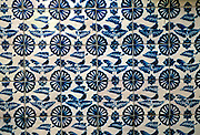 MEXICO, HISTORIC ARCHITECTURE, PUEBLA Puebla, factory for famous Talavera ceramic ware, details of tiles used as wall decorations